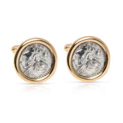 Bulgari Roman Coin Men's Cufflinks in 18K Yellow Gold