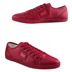 Dolce & Gabbana Sport Low Top Sneakers Flats Red Size 12 Authenticity Guaranteed