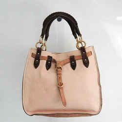 Miu Miu Women's Leather Handbag Cream,Dark Brown,Light Brown BF525676