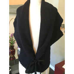 Nina Ricci Navy Blue Wool Cashmere Cardigan Sweater - 3-313-91519