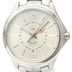 Polished TAG HEUER Link Calibre 7 GMT Steel Automatic Watch WAT201B BF500135