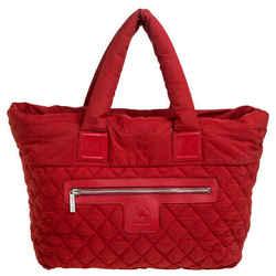 Chanel Red Nylon Coco Cocoon Tote