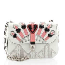 Love Blade Shoulder Bag Embroidered Leather Small