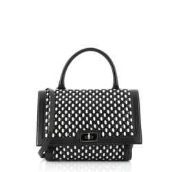 Shark Convertible Satchel Woven Leather Small