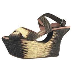 ALAIA Wedge Reptile Sandals Platforms Size: US 7.5