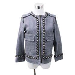 Lanvin Grey Denim Studded Jacket sz 4