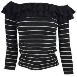 Ralph Lauren Black Label Striped Silk Knit Sweater