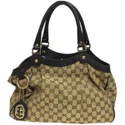 "Gucci Bag Sukey Monogram Pm Brown Gg Supreme Canvas Tote 9""L x 14.5""W x 5""H Item #: 25771539"