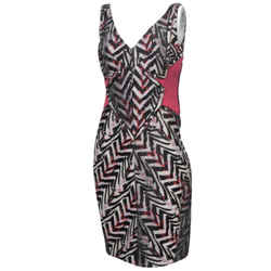 Zac Posen Zigzag Print Dress