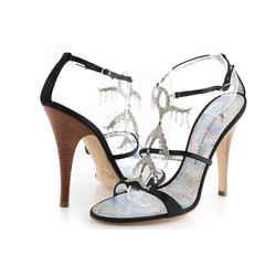 Giuseppe Zanotti Crystal Chandelier Sandal Heels