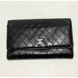 Chanel Mini Quilted Black Leather Wallet Silver CC Entrupy Authenticated 2006