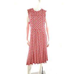Nwt Tory Burch Red White Jada Floral Sleeveless Midi Long Maxi Dress L
