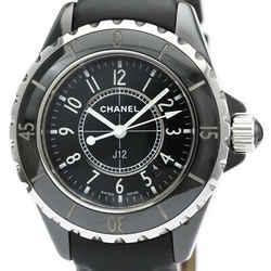 Polished CHANEL J12 Ceramic Leather Quartz Ladies Watch H0680 BF516903
