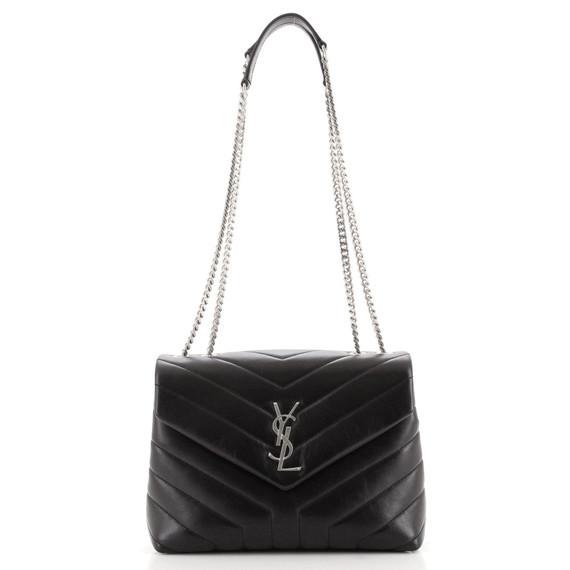 LouLou Shoulder Bag Matelasse Chevron Leather Small