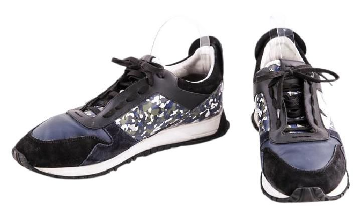 Fendi Granite Runner Spike-back Leather