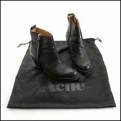 Rdc10694 Authentic Size 37 Acne Studios Black Leather Boots
