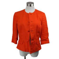 Ralph Lauren Orange Linen Jacket Size 8