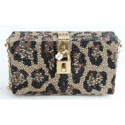 Dolce&Gabbana Dolce Box Clutch with Fusible Rhinestones
