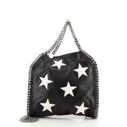 Falabella Fold Over Crossbody Bag Embroidered Faux Leather Mini