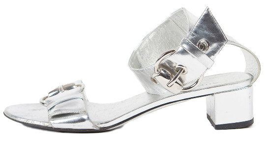 Gucci Silver Sandal