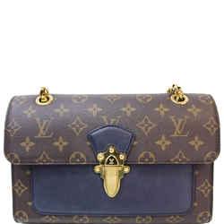Louis Vuitton Victoire Monogram Canvas Shoulder Crossbody Bag Navy