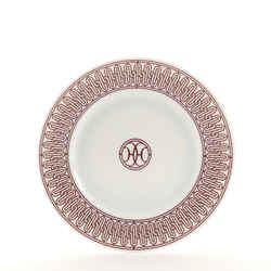 H Deco Dessert Plate Printed Porcelain