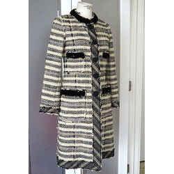 Marc Jacobs Coat Sensational Embellishment Details 4 Exquisite Fabric Grt Lining
