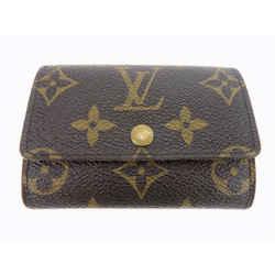 Brown Porte Coin Purse Monnaie Plat Monogram Card Case Men M61930 Wallet