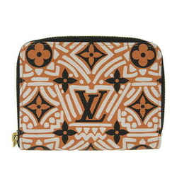 Auth Louis Vuitton Lv Crafty Zippy Coin Purse Beige White Black M69496 Leather W