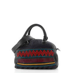Panettone Convertible Satchel Spiked Leather Small