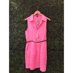 Theory Size 10 Highlighter Pink Dress
