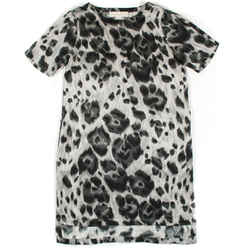 Stella Mccartney - Dress Leopard Grey Print Silk - Us 00 - 36