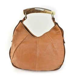 "YSL ""Mombasa"": Light Brown, Leather & Horn, Shoulder/Hobo Bag (mx)"