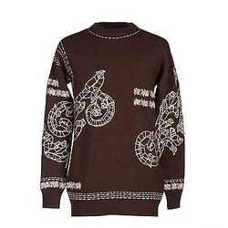 New Versace Men's Runway Embroidered Cashmere Alpaca Crewneck Sweater 48 - M