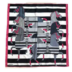 HERMES Rocabar Noir Vintage Silk Scarf Behind the Scenes Collection