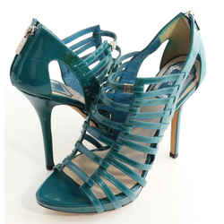 Dior Gladiator Strappy Caged Sandals - Turquoise