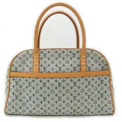 Louis Vuitton Navy Blue Monogram Mini Lin Marie Speedy Boston Bag 862236