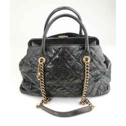 Chanel Cambon 31 Rue Quilted CC Logo Two Way Shoulder Bag - Black