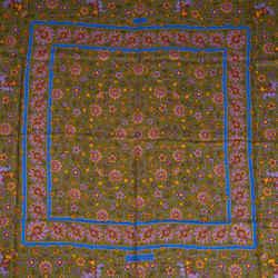 Hermes Scarf Vintage GM Tabriz 140 Shawl Cashmere Silk