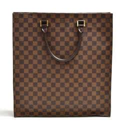 Louis Vuitton Sac Plat Ebene Damier Canvas Tote Handbag LU124
