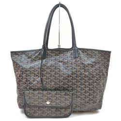 GOYARD Black Chevron St Louis Tote Bag with Pouch 862927