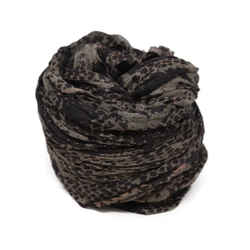 Zadig & Voltaire Brown Animal Print Scarf