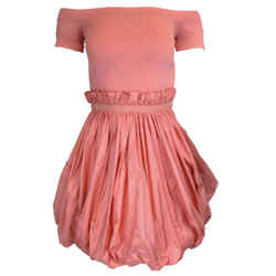 Alexander McQueen Pink Short Sleeved Ruched Mini Dress