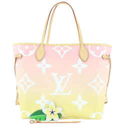 Louis Vuitton Pink Yellow Giant By the Pool Monogram Neverfull MM Tote 840lvs48