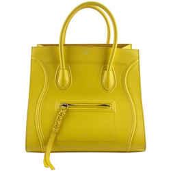 Celine Medium Yellow Grained Calfskin Phantom Luggage Tote