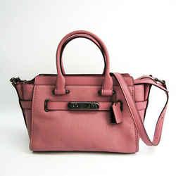 Coach Swagger 27 87 295 Women's Leather Handbag,shoulder Bag Rose Pink Bf512499