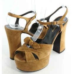 Saint Laurent Candy 80 Suede Platform Sandals
