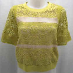 Rebecca Minkoff Yellow Lace Blouse 8