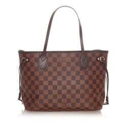 Brown Louis Vuitton Damier Ebene Neverfull PM Bag