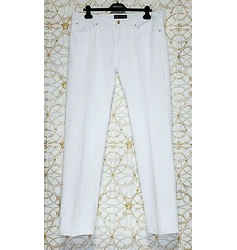 New Versace White Denim Pants Jeans 54 - 38 (2xl)
